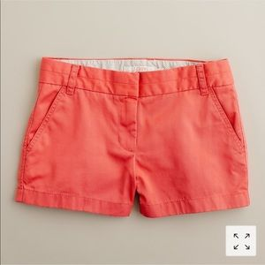 J crew broken in chinos shorts size 2